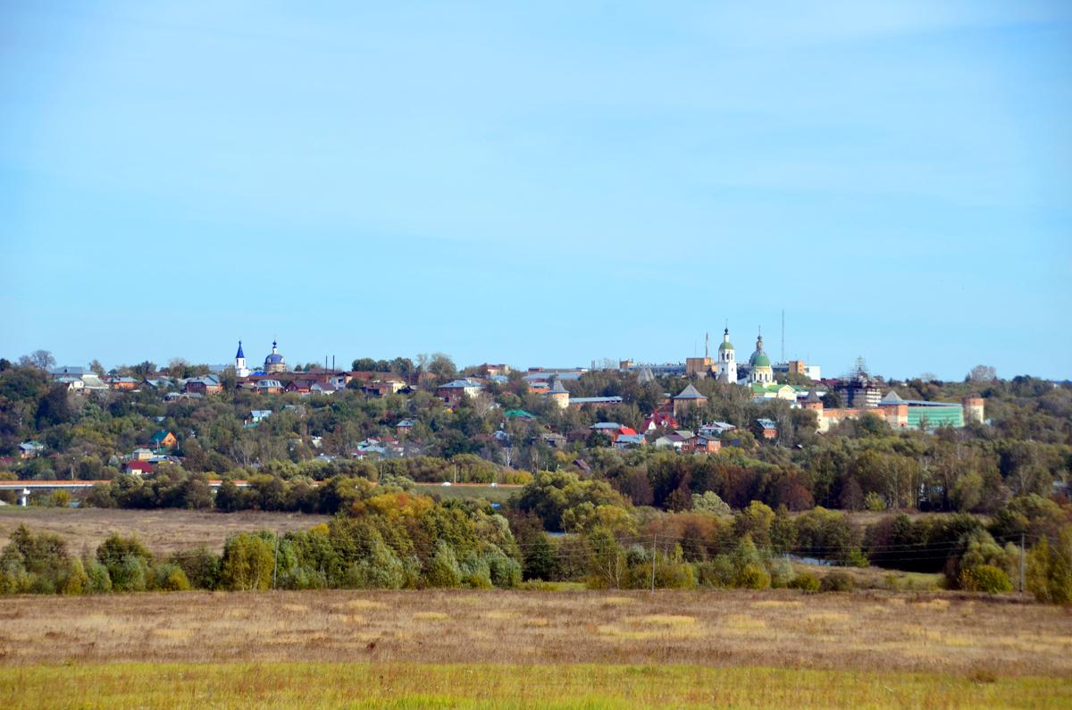 1. Вид на город Зарайск.