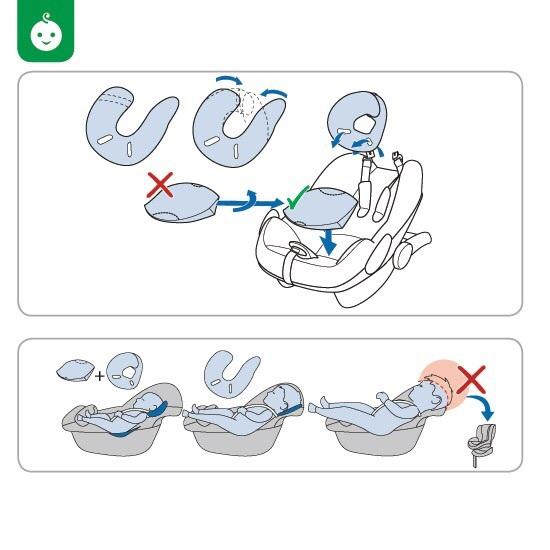Вкладыш в автолюльку для новорожденных выкройки